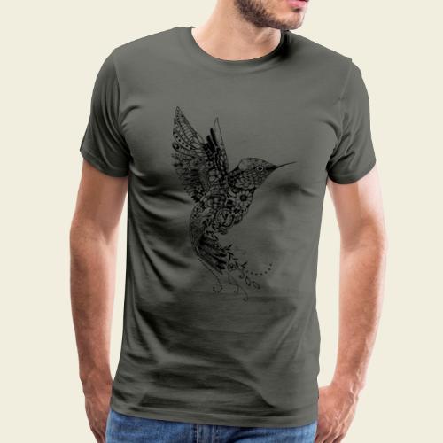 Großer Design-Kolibri - Männer Premium T-Shirt