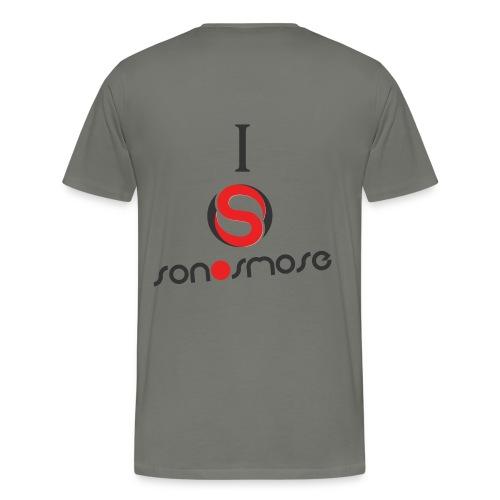I Love Sonosmose Bicolore - T-shirt Premium Homme