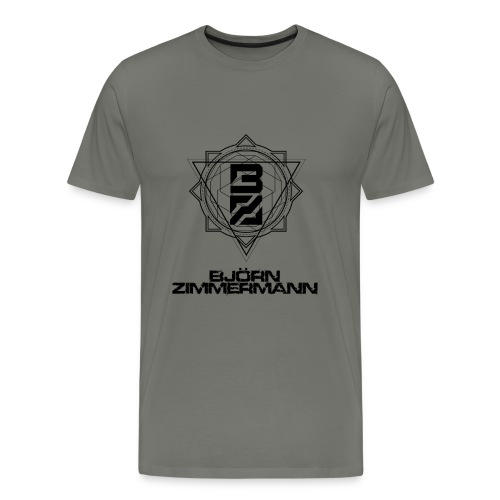 PLAIN BLACK - Männer Premium T-Shirt