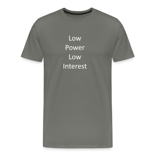 lowpowerlowinterest - Men's Premium T-Shirt