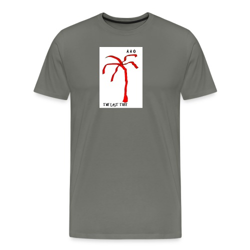 Draw-palm-red - Premium-T-shirt herr