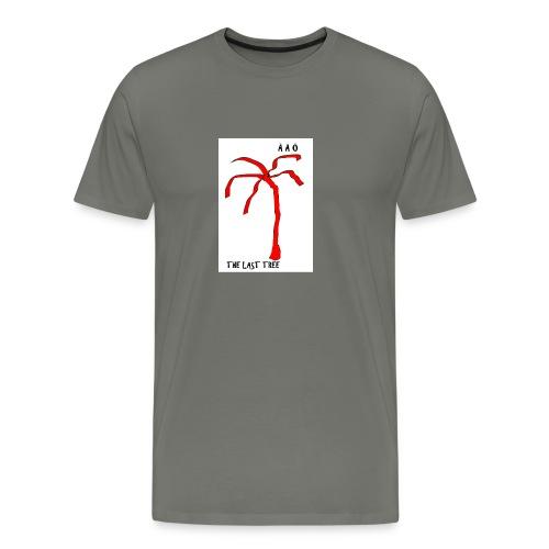 Draw-palm-red - Premium-T-shirt herr