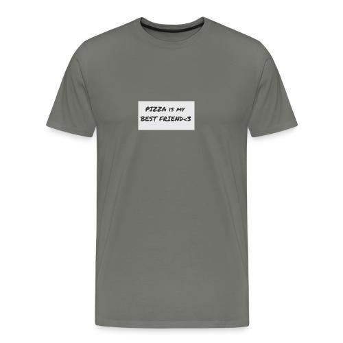 'Pizza is my Best Friend' - Men's Premium T-Shirt