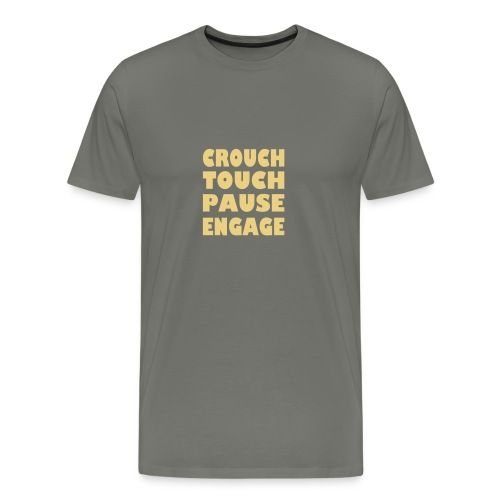 crouch touch pause engage m - Men's Premium T-Shirt