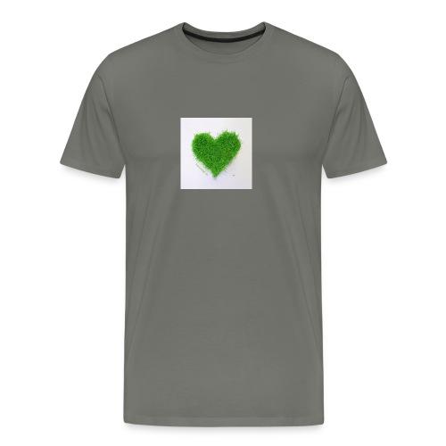Herzrasen Button - Männer Premium T-Shirt