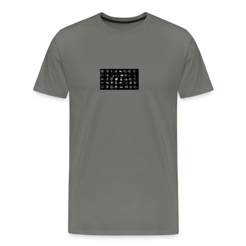 Turks Flag Symbols - Männer Premium T-Shirt