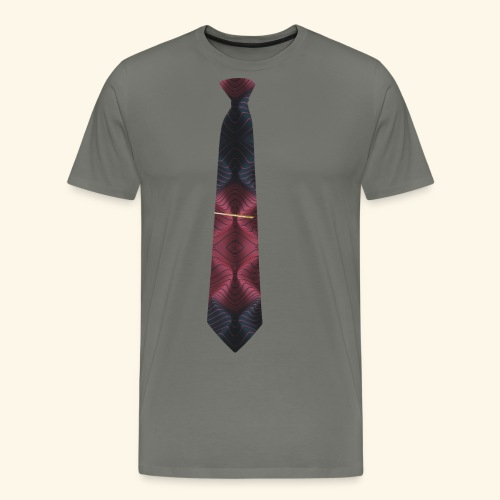 Krawatte 117 mit Goldnadel - Männer Premium T-Shirt