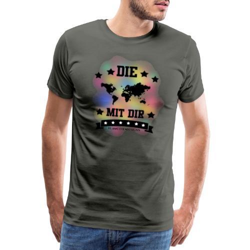Die Welt mit dir bunt weiss - Klamottendesigns - Männer Premium T-Shirt