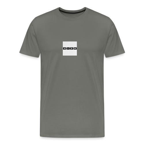 black-rewind-play-pause-forward-t-shirts_design - Mannen Premium T-shirt
