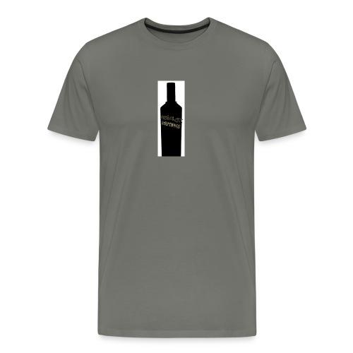 flaske forran - Premium T-skjorte for menn