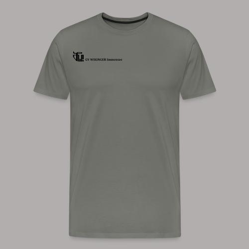 Zirkelbanner,schwarz(vorne)Zirkel,schwarz (hinten) - Männer Premium T-Shirt