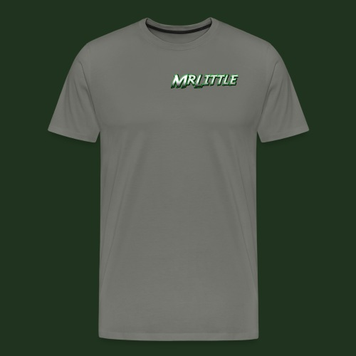 A simple text which fits on dark colours. - Men's Premium T-Shirt