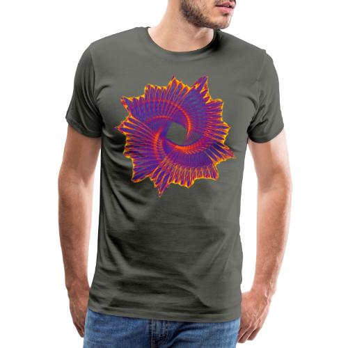 Spiral fan ammonite prehistoric animal fossil 11912bry - Men's Premium T-Shirt