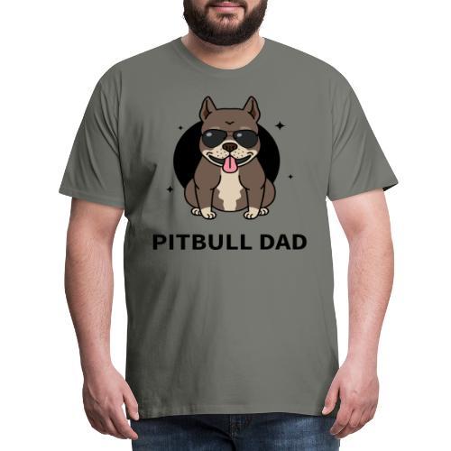pitbull papa,dad,humour,chien,dog,animal,cadeau - T-shirt Premium Homme
