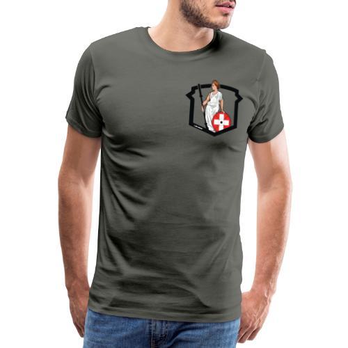 Helvetic Weightlifting Girl - Männer Premium T-Shirt