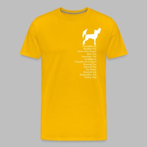 koirat kieletpk - Miesten premium t-paita