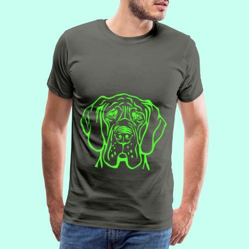 Die denkende Dogge - Männer Premium T-Shirt