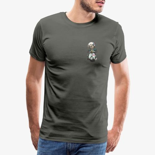 Skullterist - Solo Big Print - Männer Premium T-Shirt