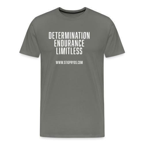test tshirt front2 txt scewed2c - Herre premium T-shirt