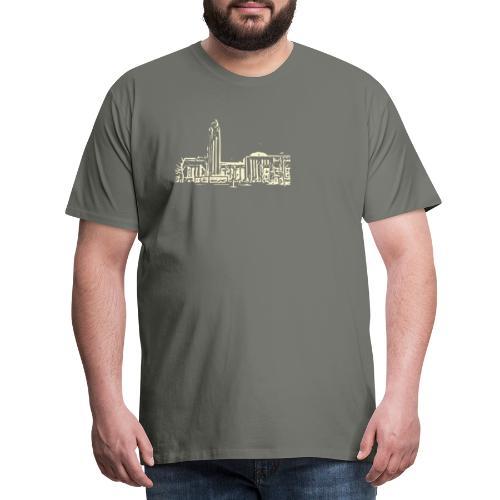 Helsinki railway station pattern trasparent beige - Men's Premium T-Shirt