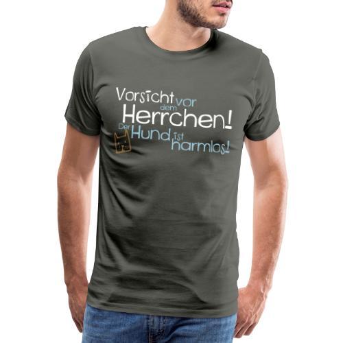 Vorsicht vor dem Herrchen! Hunde Design Geschenk! - Männer Premium T-Shirt