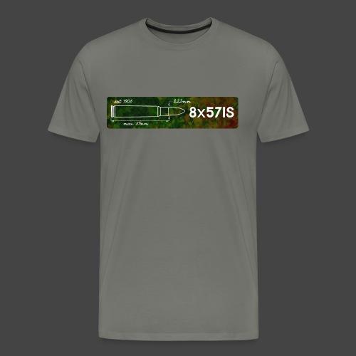 Kalibershirt 8x57 IS für Jäger und Schützen - Männer Premium T-Shirt