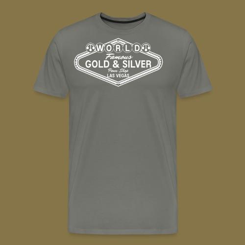 World Famous Gold & Silver Pawn Shop Logo - Men's Premium T-Shirt