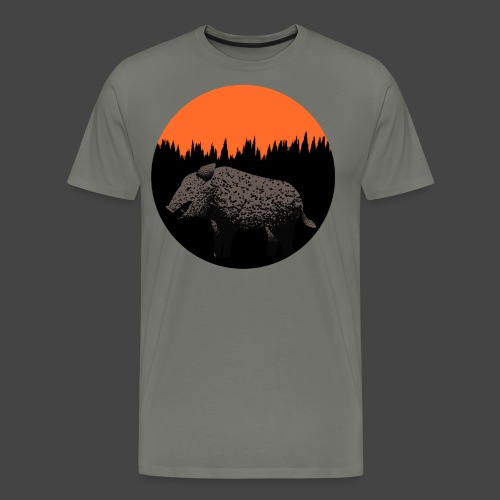 Sunset Boar - Männer Premium T-Shirt