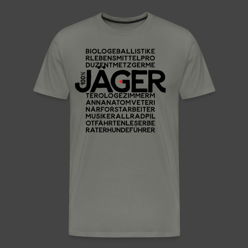 100 Prozent Jäger-Shirt Original Jagawams - Männer Premium T-Shirt