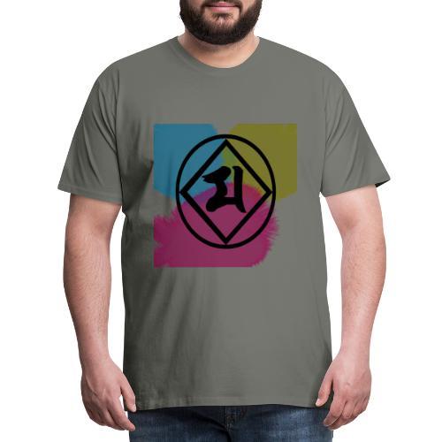 Logo Japones color - Camiseta premium hombre