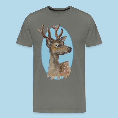 Junger Hirsch - mit sanftem Blick - Männer Premium T-Shirt