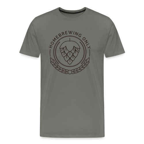 Homebrewing Only logo greygreen - Men's Premium T-Shirt