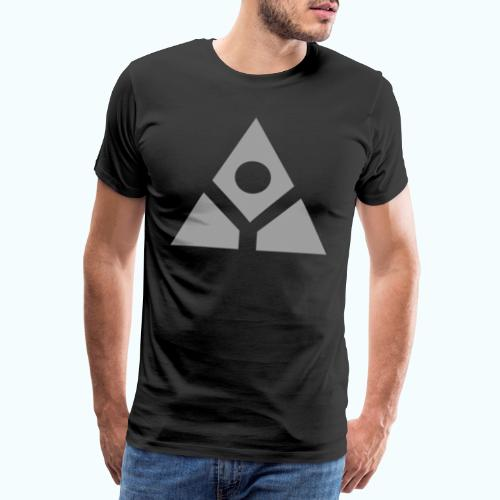 Sacred geometry gray pyramid circle in balance - Men's Premium T-Shirt