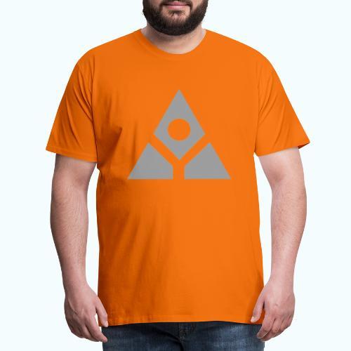 Sacred geometry gray pyramid circle in balance - Men's Premium T-Shirt