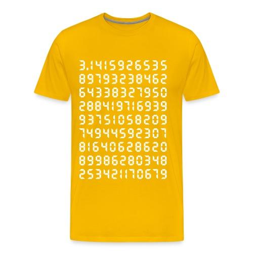 Pi Mathematik Kreiszahl Symbol Genie Big Bang Geek - Men's Premium T-Shirt