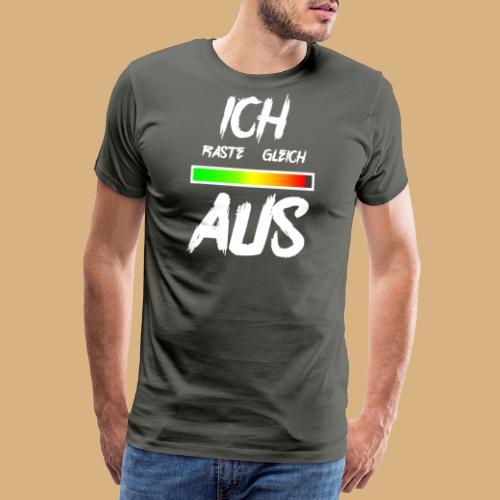 ich raste gleich aus Stress genervt funny lustig - Männer Premium T-Shirt