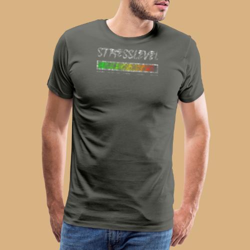 Gestresst Stress Stresslevel Used Lock Burnout - Männer Premium T-Shirt