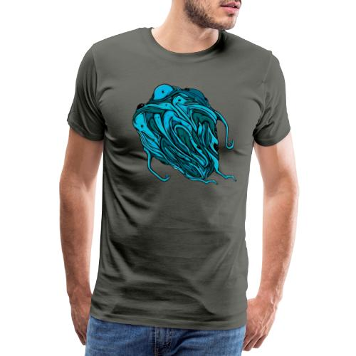 Flying blue blob - Men's Premium T-Shirt