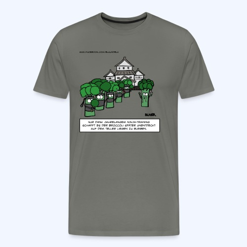 Broccoli - Ninja (600dpi) - Männer Premium T-Shirt