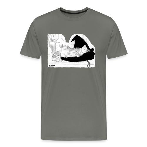 Tyrrin Hexenkater auf Hut (grau) - Männer Premium T-Shirt