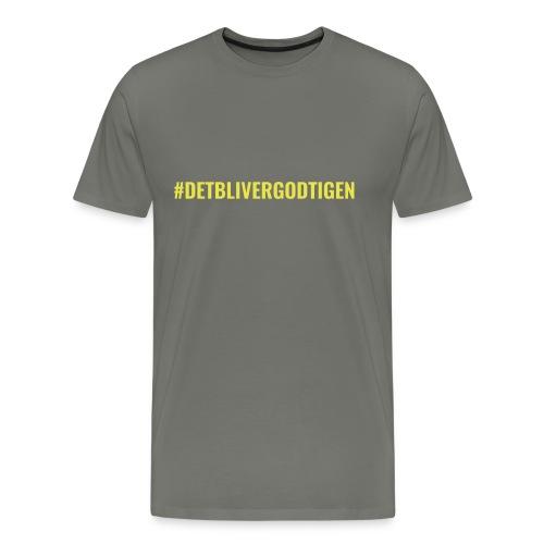 #detblivergodtigen - Herre premium T-shirt