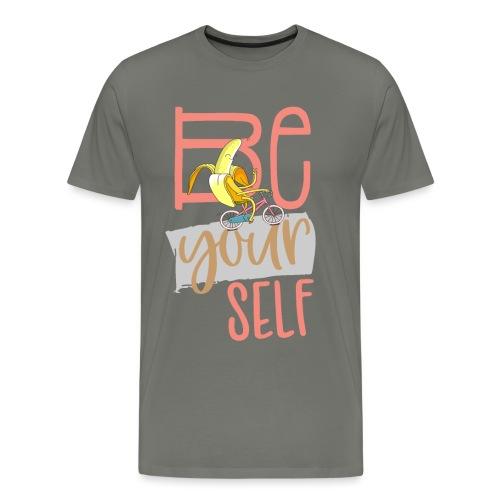 Glückliche & Sportliche Banane - Be always you - Männer Premium T-Shirt