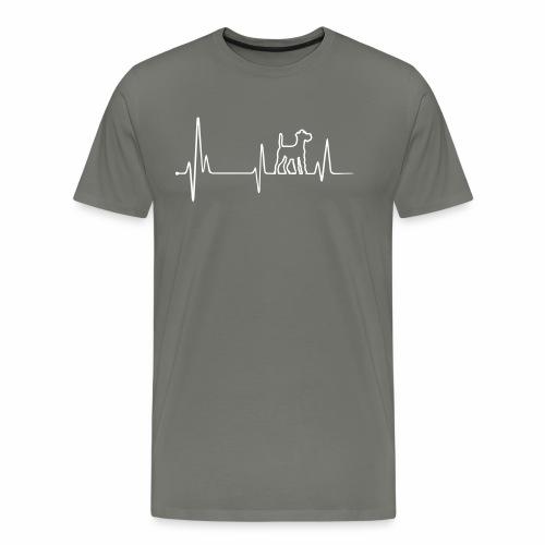 Irish Terrier Einkaufstasche mit Herz - Männer Premium T-Shirt