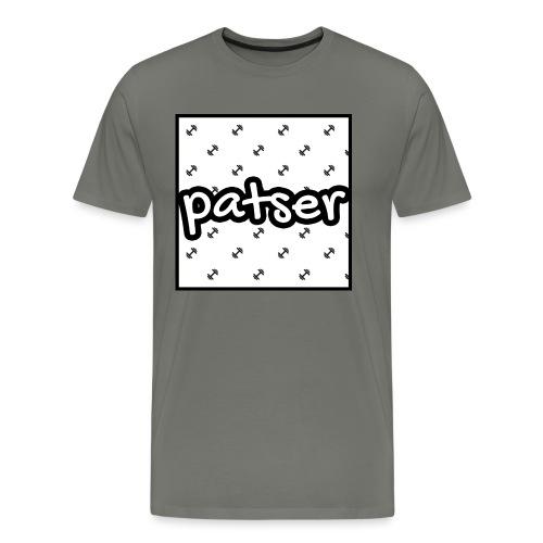 Patser - Basic Print White - Mannen Premium T-shirt