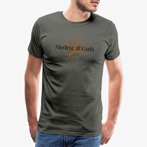 Niedrig-und-Guth-Kompass - Männer Premium T-Shirt
