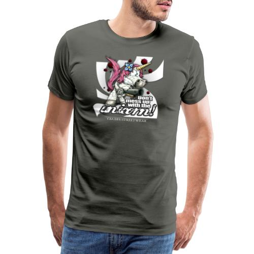 Don't mess up with the unicorn - Männer Premium T-Shirt