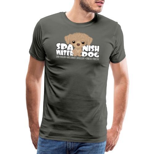 Spanish Water Dog (Cream) - DGBigHead - Men's Premium T-Shirt