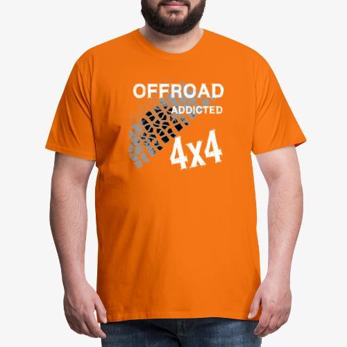Defender Land-Rover OFF Road White - Männer Premium T-Shirt