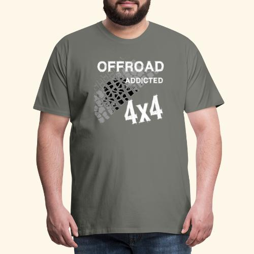 OFFroadAddictedWhite - Männer Premium T-Shirt