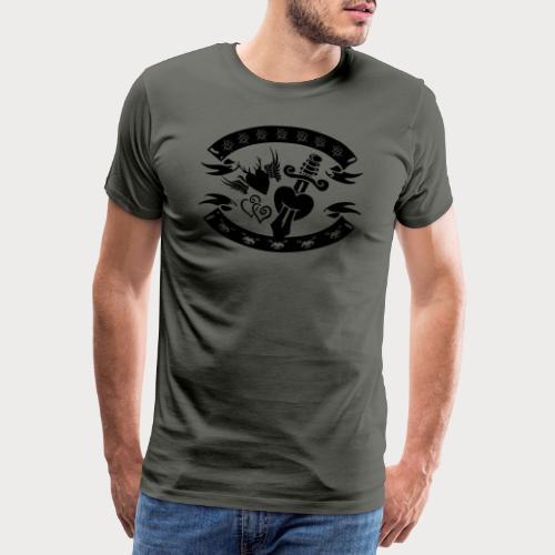 Tracht vs. Rockabilly - Männer Premium T-Shirt